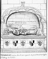 Enfeu de Philippe de Fleurigny et de Catherine la Drouaise, abbaye Notre-Dame de l'Estrée