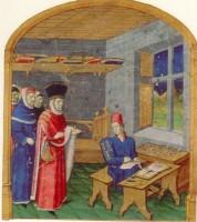 Guillaume Jouvenel des Ursins rendant visite à son enlumineur