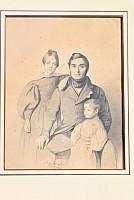 Pierre Carlier et ses deux filles Marie et Caroline, Lyon, 1836