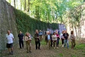 Visite des douves du château de Plessis Saint Jean