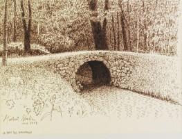 Le Pont des Amoureux, par Gilbert Shelton,  2° prix ex aequo