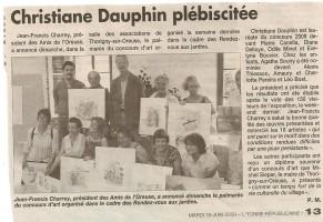 le compte-rendu dans le journal l'Yonne Républicaine du 16 juin 2009