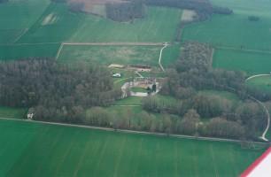 Le château vu d'avion