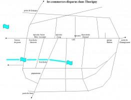 Carte des commerces disparus récemment à Thorigny